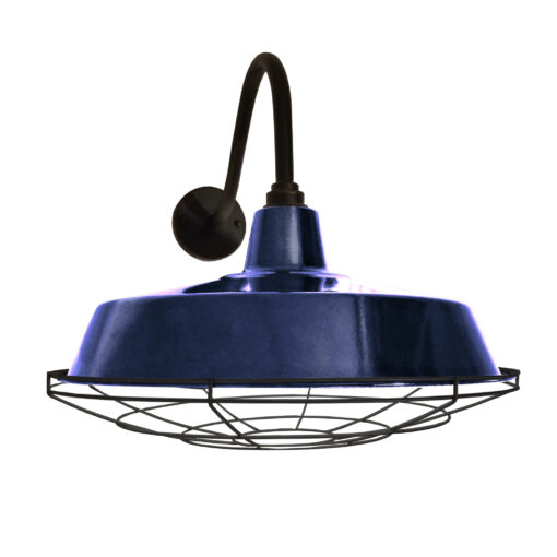 Blue Enamel Wall Light