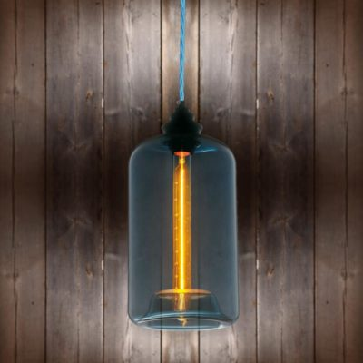 Blue Glass Pendant Light