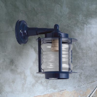 Blue Natural Brass Wall Lantern