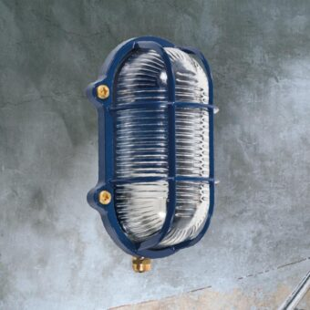 Blue Oval Outdoor Bulkhead Fitting