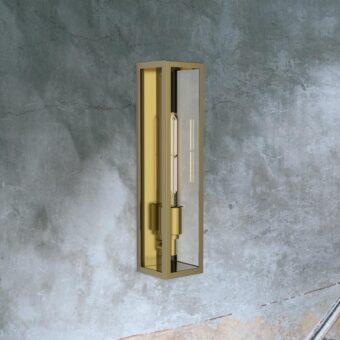 Brass Elongated Outdoor Wall Light