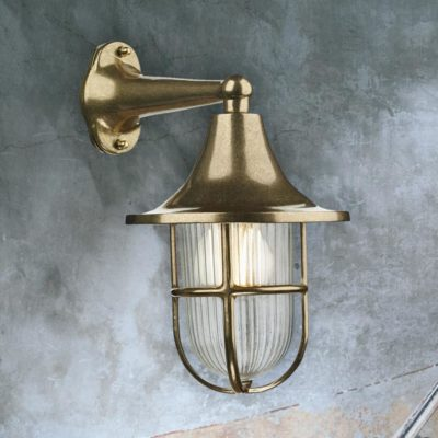Brass Fisherman Nautical Wall Lantern