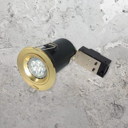 Brass Fixed Fire Rated LED Downlight