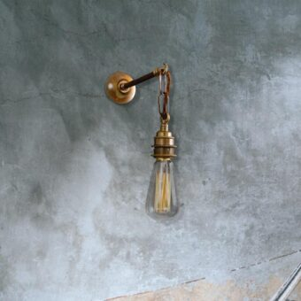 Brass Industrial Wall Light