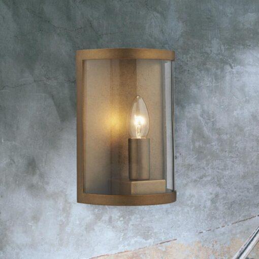 Brass Outdoor Candle Wall Light
