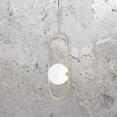 Brass Oval Ring Globe Pendant Light