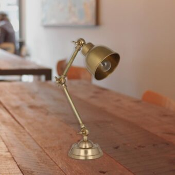 Brass Task Lamp,adjustable industrial brass table lamp