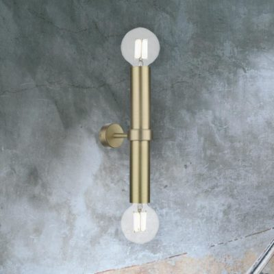 Satin Brass Up Down Wall Light
