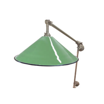 British Racing Green Coolie Enamel Wall Light