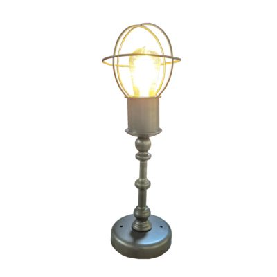 Bronze Cage Table Mounted Lamp