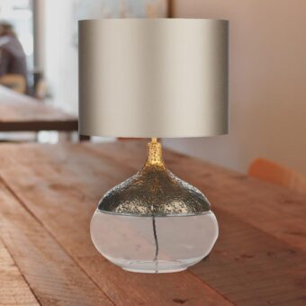 Bronze Clear Glass Table Lamp Base