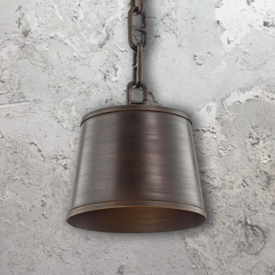 Bronze Drum Pendant Light