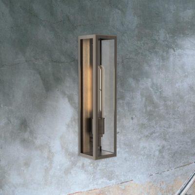 Bronze Elongated Outdoor Wall Light