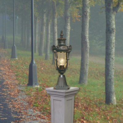 Single Bronze Exterior Pedestal