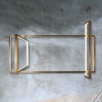 Bronze Frame LED Pendant Light
