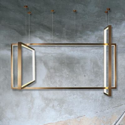 Bronze Frame LED Pendant Light