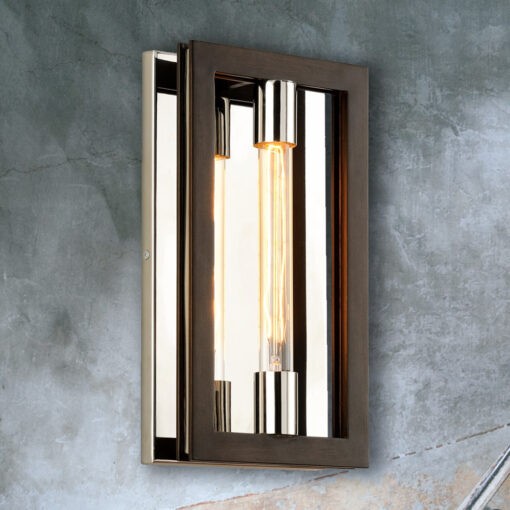 Bronze Frame Wall Light