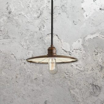 Bronze Glass Pendant Light