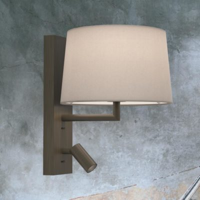 Bronze Modern Bedside Wall Lamp with Reading Light