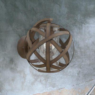 Bronze Outdoor Orb Wall Light