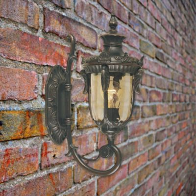Outdoor Smoked Glass Wall Lantern