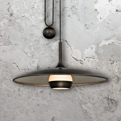 Bronze Rise and Fall Pendant Light