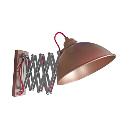 Bronze Scissor Arm Wall Light