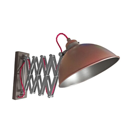 Bronze Scissor Arm Wall Light Gunmetal Inner