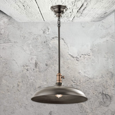 Bronze Semi Flush Pendant Light
