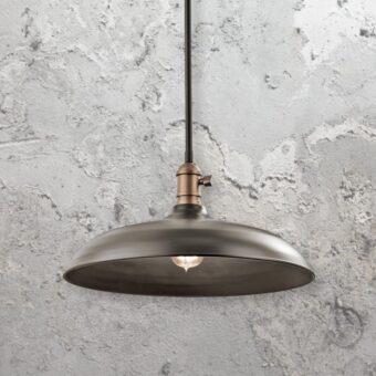 Bronze Semi Flush Pendant Light