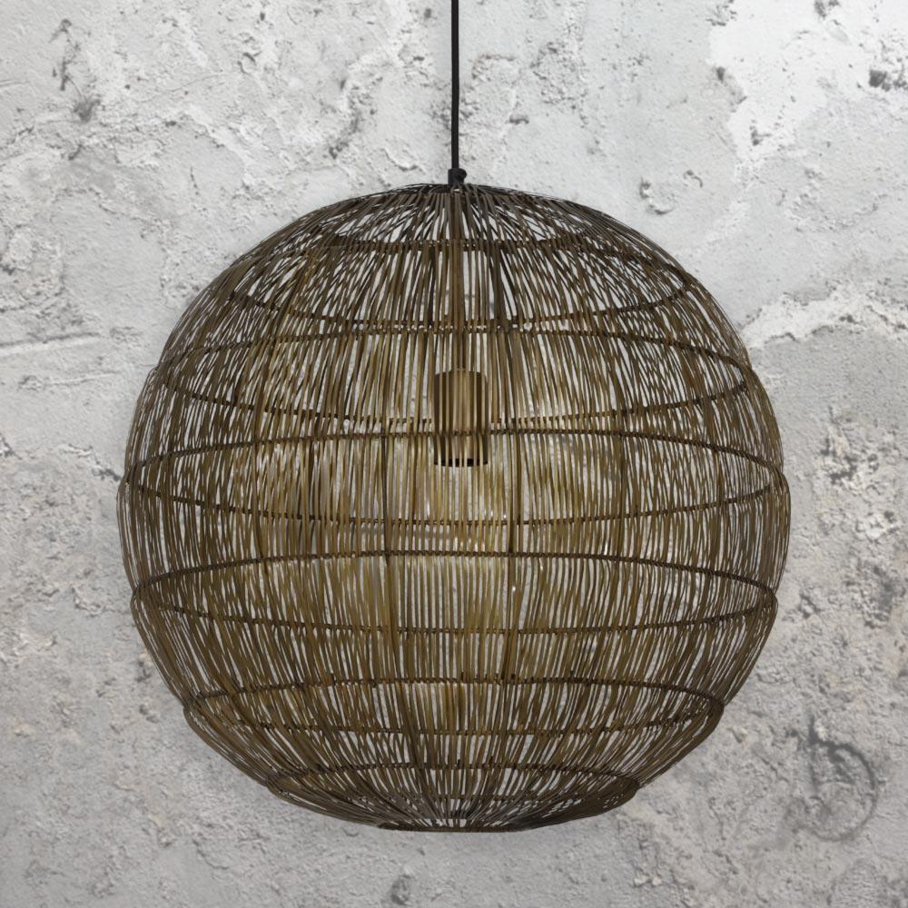 Bronze Wire Ball Pendant Light Cl 36092 E2 Contract Lighting Uk