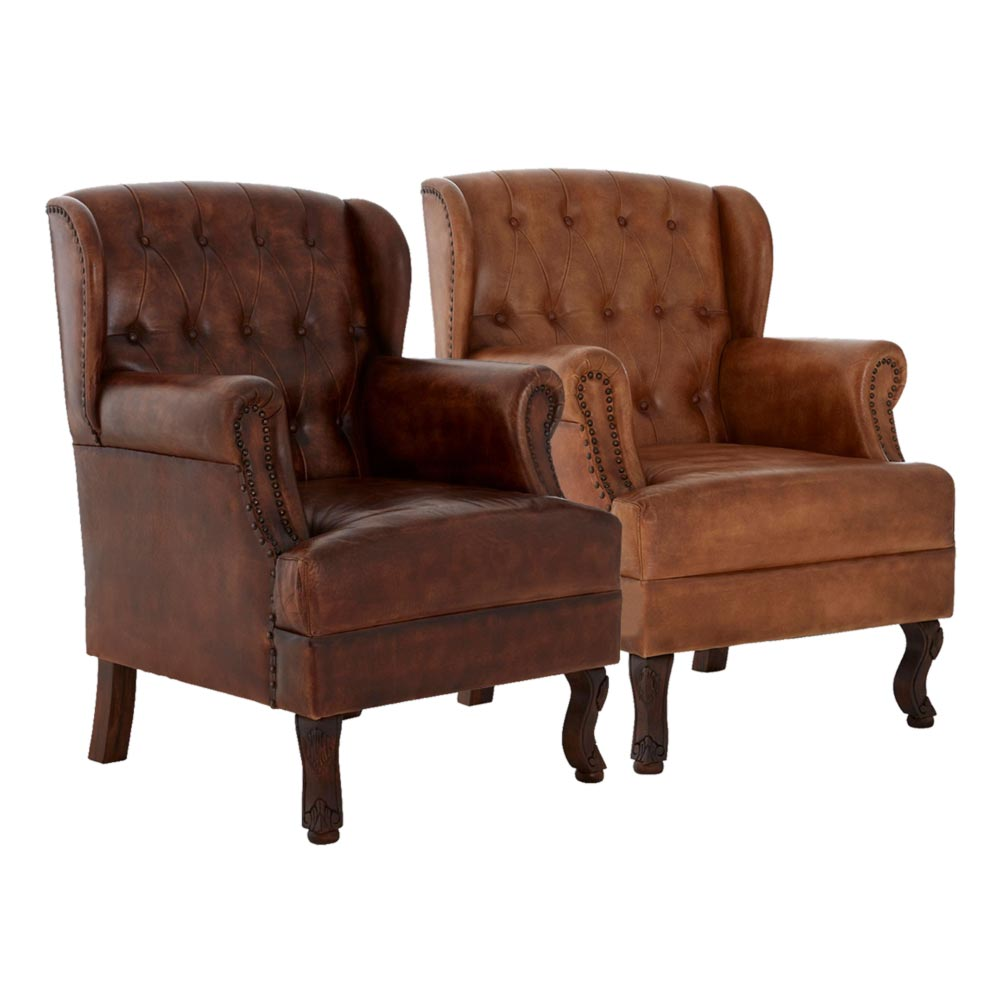 Brown Leather Armchair Cl 40159 E2 Contract Lighting Uk