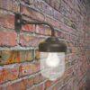 Brown Outdoor Barn Wall Light