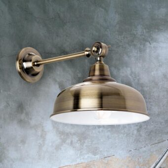 Brushed Antique Brass Wall Light