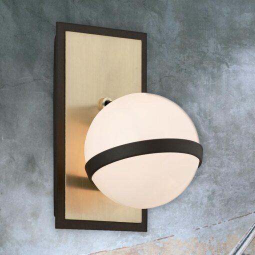 Brushed Brass Globe Wall Lamp