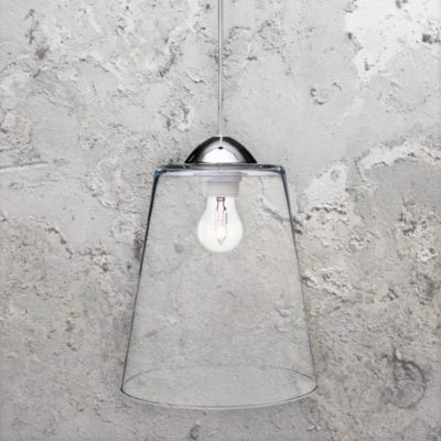 Bucket Clear Glass Pendant Light