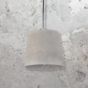 Bucket Shade Concrete Pendant Light