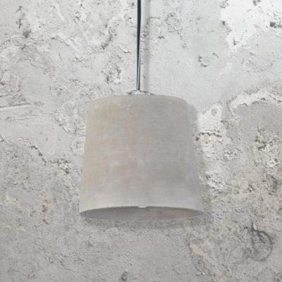 Bucket Shade Concrete Pendant Light