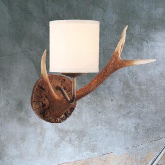 Highland Rustic Antler Wall Light