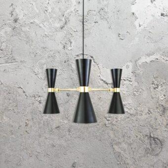 contemporary black minimal chandelier