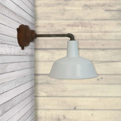 Rustic Enamel Wall Light