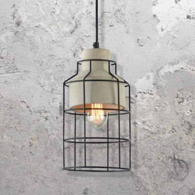 Cage Concrete Pendant Light