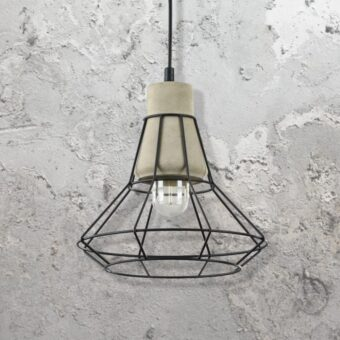 Cage Concrete Pendant Light CL-34801