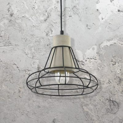 Cage Concrete Pendant Light
