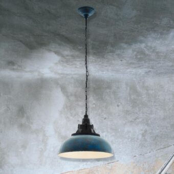 Blue Verdigris Pendant Light