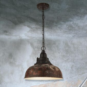 Red Verdigris Pendant Light