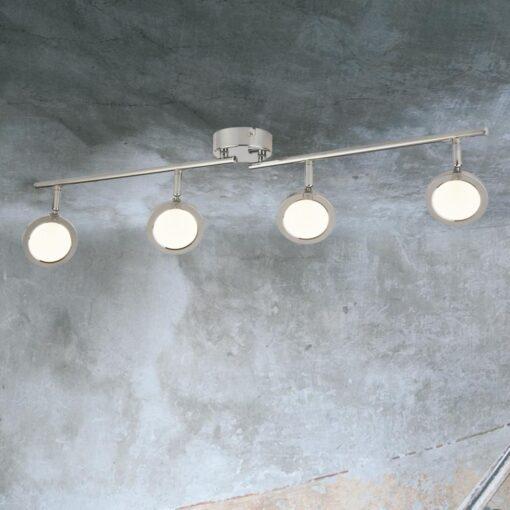 Chrome 4 Light Round Spotlight Bar