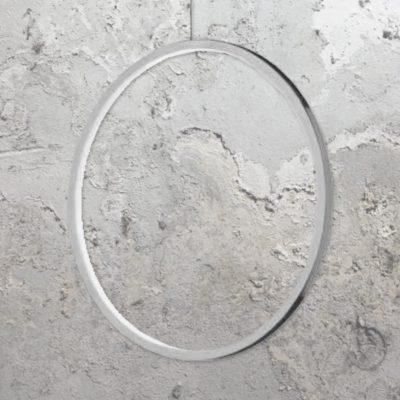 Chrome 600mm Vertical Ring Pendant Light