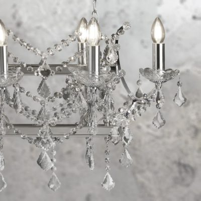 Chrome 8 Light Crystal Island Chandelier
