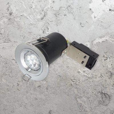 Chrome Fixed Fire Rated LED Downlight